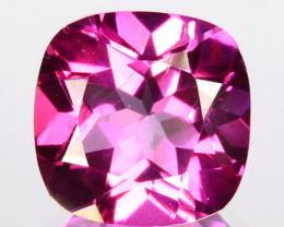 ~STUNNING~ 3.46 Cts Candy Pink Natural Topaz 9mm Cushion Cut Brazil