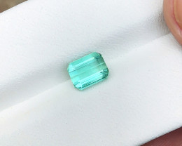1.55 Ct Natural Blueish Transparent Ring Size Tourmaline Gemstone
