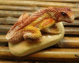 Succor picture jasper carved lizard decoration (D0112)