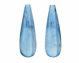Natural Whole Drop Aquamarine Pair