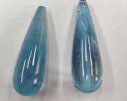 Aquamarine Whole Drop Pair