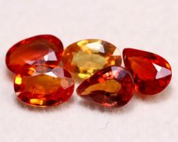 Sapphire 2.33Ct Songea Sapphire Natural Vivid Orange Color Sapphire A309
