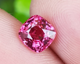 NO TREAT 1.00 CTS NATURAL STUNNING ANTIQUE CUSHION HOT PINK SPINEL BURMA