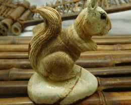 Picture jasper squrriel decoration (D099)