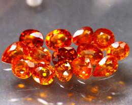 Garnet 9.76Ct 14Pcs Natural Vivid Orange Spessartite Garnet ER40/B34