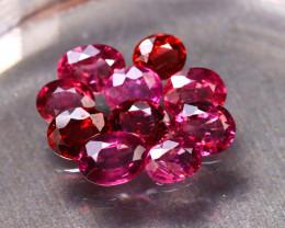 Rhodolite 8.52Ct 10Pcs Natural Red Rhodolite Garnet ER46/B2
