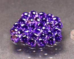 Amethyst 9.38Ct 30Pcs Natural Uruguay VVS Electric Purple Amethyst ER47/C1