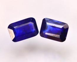 Ceylon Sapphire 3.42Ct 2Pcs Royal Blue Sapphire  E1408/A23