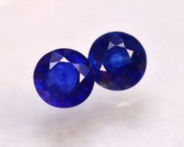 Ceylon Sapphire 4.05Ct 2Pcs Royal Blue Sapphire E1409/A23