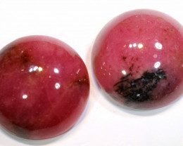 24.5 CTS   RHODONITE (2PCS)  PAIR  LG-151