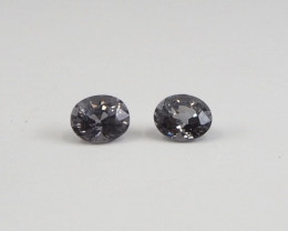 1.61ct clean grey spinel pair