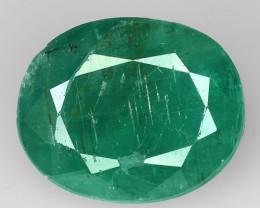 6.16 CT EMERALD TOP COLOR QUALITY GEMSTONE ZAMBIA ZE8