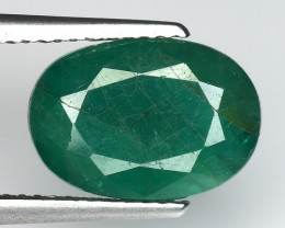 3.96 CT EMERALD TOP COLOR QUALITY GEMSTONE ZAMBIA ZE39