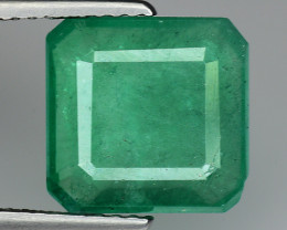 3.97 CT EMERALD TOP COLOR QUALITY GEMSTONE ZAMBIA ZE40