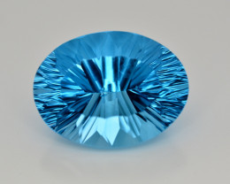 Amazing Laser Cut 39.00 Ct Natural Swiss Blue Color Topaz