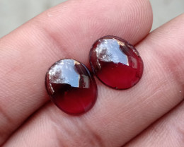 Almandine Garnet Cabochon Pair Natural+Untreated VA1673