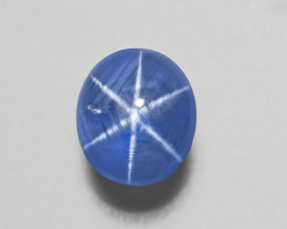 Blue Star Sapphire, 13.04ct - Mined in Sri Lanka | Certified by AIGS