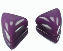 13.65Ct Natural Lavender  Phosphosiderite  Try angle Pair