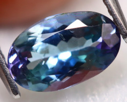 Tanzanite 1.42Ct Natural VS Oval Cut Purplish Green Blue Tanzanite B1007