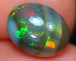 Rare Black Opal 2.94Ct Natural Untreated Ethiopian Black Welo Opal B1012