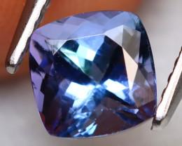 Tanzanite 1.42Ct Natural VVS Square Cut Purplish Blue Tanzanite B1015