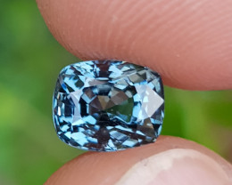 NO TREAT 1.44 CTS NATURAL STUNNING CUSHION MIX GRAY SPINEL FROM BURMA
