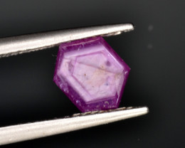 Natural Ruby 1.66 Cts with Hexagonal Pattern from Guinea