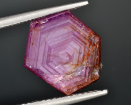 Natural Ruby 6.82 Cts with Hexagonal Pattern from Guinea