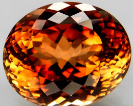 17.52 ct. 100% Natural Earth Mined Topaz Orangey Brown Brazil