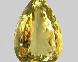 45.15Ct. Natural Top Lemon Quartz Brazil Pear Shape Facet Dazzling Unheated