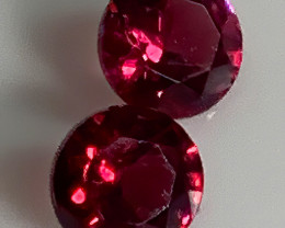 Spinel Pair Crimson red Matched gems 4.00mm C23P