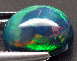 5.31 Ct. Natural Play of Color Rainbow Fire Hydrophane Opal – IGE Certific