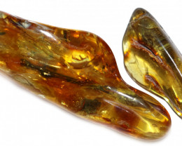 109 Cts Pair Tumbled Polished Rough Amber  AM 1781