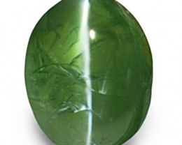India Alexandrite Cat's Eye, 1.65 Carats, Deep Green (Color Change) Oval