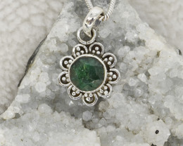 EMERALD PENDANT 925 STERLING SILVER NATURAL GEMSTONE JP276