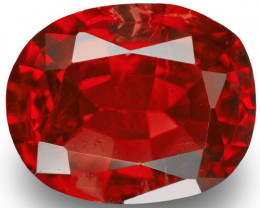 Burma Spinel, 1.04 Carats, Red Oval