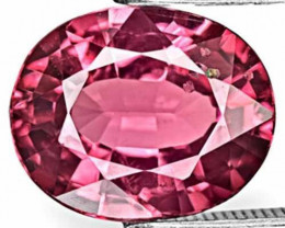 Sri Lanka Spinel, 4.27 Carats, Deep Pink Oval