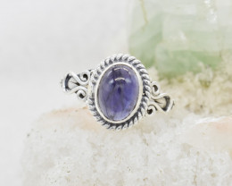 IOLITE RING 925 STERLING SILVER NATURAL GEMSTONE JR507