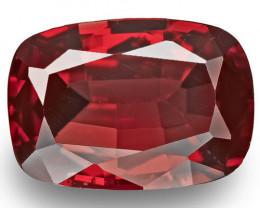 Burma Spinel, 0.96 Carats, Red Cushion