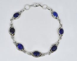 BLUE SAPPHIRE BRACELET NATURAL GEM 925 STERLING SILVER JB263