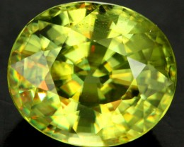 3.00 CTS CERTIFIED SPHENE GREEN MULTI COLOURED [SP3] VS