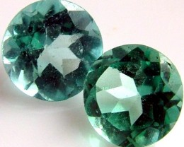 APATTIE SEA BLUE GREEN COLOUR PAIR 0.85 CTS [S4351 ]VS