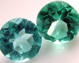 APATTIE SEA BLUE GREEN COLOUR PAIR 1.0 CTS [S4357 ]VS