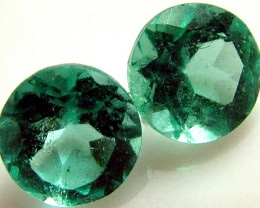 APATTIE SEA BLUE GREEN COLOUR PAIR 0.95 CTS [S4358 ]VS