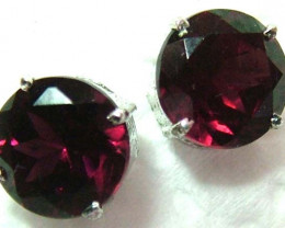 GARNET EARRINGS SET IN SILVER  9.5 CTS  C-48