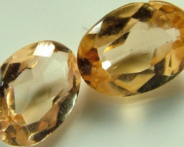 IMPERIAL TOPAZ PAIR 0.90 CTS [S4384 ] VVS QUALITY