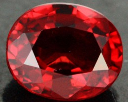 0.74 CTS CERTIFIED SPINEL  BLOOD RED [SP30] VS