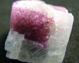 RUBY ON CALCITE SPECIMEN 50 CTS [MX3977 ]