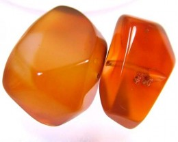 CARNELIAN BEAD DRILLED (PARCEL) 35 CTS FA 85 (AD-GR)