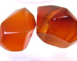 CARNELIAN BEAD DRILLED (PARCEL) 40 CTS FA 86 (AD-GR)